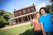 Couple Exploring Australian Homestead