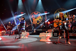 01.05.2014, Lancess Arena, Koeln, GER, Scorpions bei MTV Unplugged, im Bild Rudolf Schenker, Klaus Meine, Pawel Maciwoda und Matthias Jabs // Rudolf Schenker, Klaus Meine, Pawel Maciwoda und Matthias Jabs of the Scorpions performance live at MTV Unplugged at the Lancess Arena in Koeln, Germany on 2014/05/01. EXPA Pictures © 2014, PhotoCredit: EXPA/ Newspix/ Oliver Hausen<br /> <br /> *****ATTENTION - for AUT, SLO, CRO, SRB, BIH, MAZ, TUR, SUI, SWE only*****