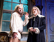 The Miser <br /> by Moliere<br /> adapted by Sean Foley and Phil Porter <br /> at Garrick Theatre, London, Great Britain <br /> Press photocall <br /> 6th March 2017 <br /> <br /> <br /> Lee Mack as Mitre Jacques <br /> <br /> Griff Rhys Jones as Harpagon <br /> <br /> <br /> <br /> <br /> Photograph by Elliott Franks <br /> Image licensed to Elliott Franks Photography Services