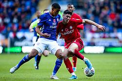 Callum O'Dowda of Bristol City takes on Lee Peltier of Cardiff City  - Mandatory by-line: Robbie Stephenson/JMP - 10/11/2019 -  FOOTBALL - Cardiff City Stadium - Cardiff, Wales -  Cardiff City v Bristol City - Sky Bet Championship