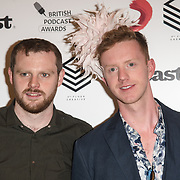 James Barr attend the Annual award ceremony celebrating the best British podcasts. Supported by Sony Music's on 19 May 2018 at King's Place, London, UK.