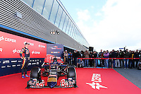 Max Verstappen (NLD) Scuderia Toro Rosso with the new Scuderia Toro Rosso STR10.<br /> Formula One Testing, Preparation Day, Saturday 31st January 2015. Jerez, Spain.
