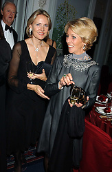 Left to right, CARLA BAMBERGER and the DUCHESS OF MARLBOROUGH at the Cartier Racing Awards held at the Four Seasons Hotel, Hamilton Place, London W1 on 16th November 2005.<br />