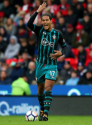Virgil van Dijk of Southampton gestures - Mandatory by-line: Matt McNulty/JMP - 30/09/2017 - FOOTBALL - Bet365 Stadium - Stoke-on-Trent, England - Stoke City v Southampton - Premier League