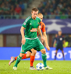 19.08.2015, Ernst Happel Stadion, Wien, AUT, UEFA CL, SK Rapid Wien vs Schachtjor Donezk, Playoff, Hinspiel, im Bild Robert Beric (SK Rapid Wien)// during UEFA Champions League Playoff 1st Leg match between SK Rapid Vienna and FC Shakhtar Donetsk at the Ernst Happel Stadium in Vienna on 2015/08/19. EXPA Pictures © 2015, PhotoCredit: EXPA/ Sebstian Pucher