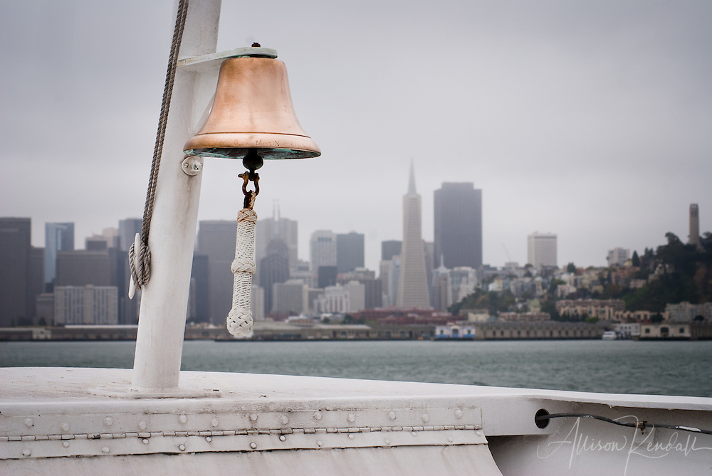 On a cold day in July, the view from the Golden Gate Ferry still looks like a postcard of San Francisco