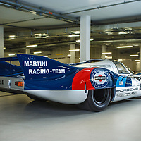 #21, Porsche 917 Long-tail Coupé, chassis no. 042, Martini Racing Team, at Le Mans 1971 driven by Gerard Larrousse and Vic Elford, here at Porsche Museum Stuttgart May 2017