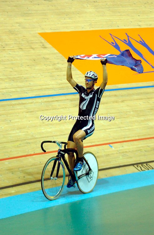 Manchester Commonwealth Games 2002<br />Mens Points Race<br />Greg Henderson<br />Please Credit: Delly Carr/ Photosport