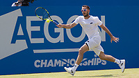 Tennis - 2017 Aegon Championships [Queen's Club Championship] - Day Three, Wednesday<br /> <br /> Men's Singles, Round of 16 -Viktor TROICKI (SRB) Vs Donald YOUNG (USA)<br /> <br /> Viktor Troicki (SRB) on Centre Court at Queens Club <br /> <br /> <br /> COLORSPORT/DANIEL BEARHAM