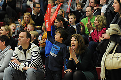 Bristol Flyers fans - Photo mandatory by-line: Dougie Allward/JMP - Mobile: 07966 386802 - 13/02/2015 - SPORT - Basketball - Bristol - SGS Wise Campus - Bristol Flyers v Surrey United - British Basketball League