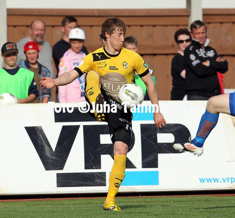 11.6.2012, Harjun stadion, Jyv?skyl?..Veikkausliiga 2012..JJK Jyv?skyl? - Kuopion Palloseura..Joni Nissinen - KuPS