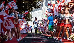 28.08.2016, Zell am See Kaprun, AUT, IRONMAN 70.3 Salzburg, im Bild dritter Platz Markus Thomschke (GER) // third place Mark Thomschke (GER) during IRONMAN 70.3, Salzburg at Zell am See- Kaprun, Austria on 2016/08/28. EXPA Pictures © 2016, PhotoCredit: EXPA/ JFK