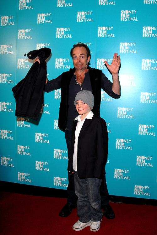 (l-r) Actors Hugo Weaving and Tom Russell attend the Australian premiere of Last Ride at the 2009 Sydney Film Festival at the State Theatre in Sydney Australia on June 7th, 2009. (Pictured: Hugo Weaving, Tom Russell) Photo By Kourosh Azar\Elevation Photos
