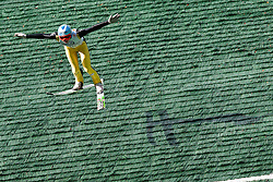 Anze Lansek during Slovenian summer national championship and opening of the reconstructed Bloudek's hill in Planica on October 14, 2012 in Planica, Ratece, Slovenia. (Photo by Grega Valancic / Sportida)