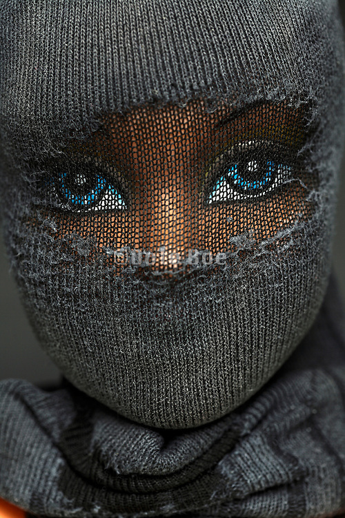 fashionable doll eyes with face covering