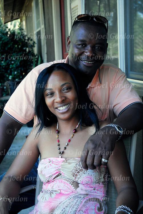 Portrait of African American couple happly loving