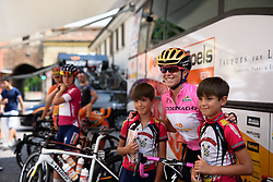 Everyone wants a photo with race leader, Evelyn Stevens at Giro Rosa 2016 - Stage 3. A 120 km road race from Montagnana to Lendinara, Italy on July 4th 2016.