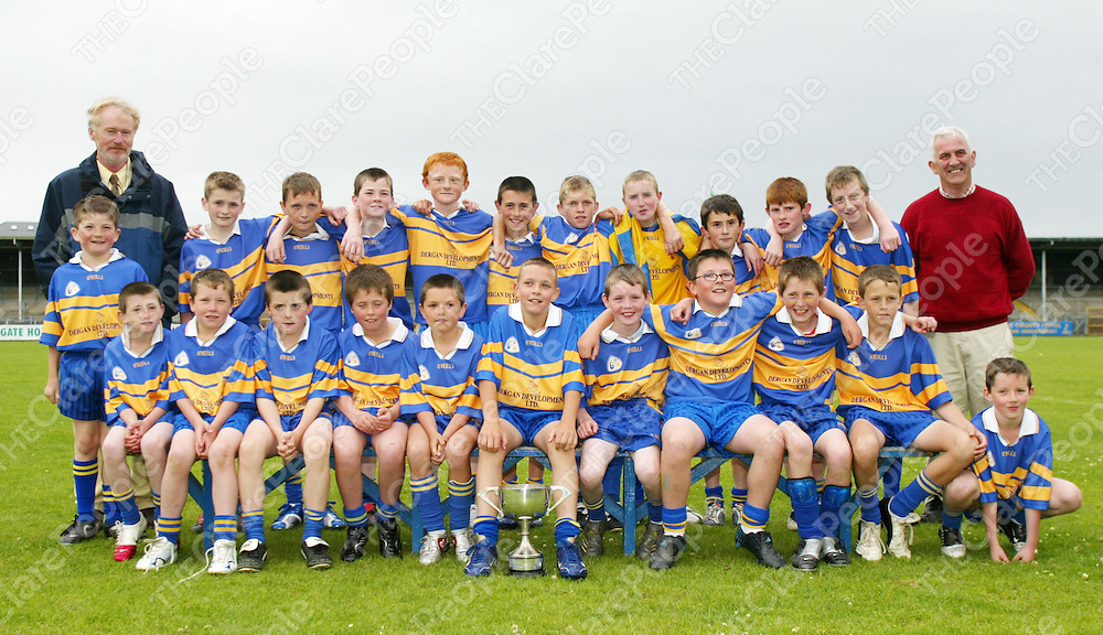 Newmarket on Fergus beat Scariff National School . Pictured with the cup at the Clare primary Schools Finals in Cusack Park in Ennis on Wednesday. Pic. Emma Jervis/ Press 22