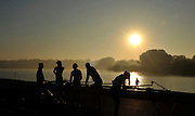 Caversham, Great Britain,  General Views GV's Caversham Lake, GB Rowing,  Training Centre.  {DOW  {DATE} [Mandatory Credit. Peter Spurrier/Intersport Images] Sunrise, Sunsets, Silhouettes