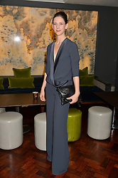 MARIA GRACHVOGEL at a dinner to celebrate 20 years of Maria Grachvogel's fashion label held at Salmontini, 1 Pont Street, London on 22nd October 2014.