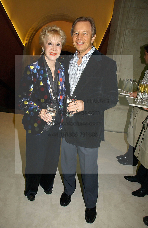 MICHAEL YORK and his wife PAT at an exhibition of David Hockney portraits at the National Portrait Gallery sponsored by Burberry on 11th October 2006.<br />