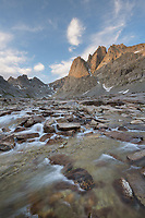 Mount Helen seen from Upper Titcomb Basin, Bridger Wilderness, Wind River Range Wyoming