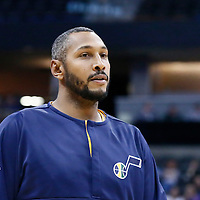 20 November 2016: Utah Jazz center Boris Diaw (33) warms up prior to the Denver Nuggets 105-91 victory over the Utah Jazz, at the Pepsi Center, Denver, Colorado, USA.