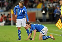 Football - soccer: FIFA World Cup South Africa 2010, Italy (ITA) - Paraguay (PRY), DOMENICO CRISCITO CON RICCARDO MONTOLIVO