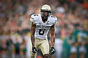 SHOT 9/1/13 6:28:35 PM - Colorado's Paul Richardson #6 lines up waiting for the snap of the ball against Colorado State during the 2013 Rocky Mountain Showdown at Sports Authority Field at MiIe HIgh Stadium in Denver, Co. Colorado won the annual in-state rivalry 41-27. (Photo by Marc Piscotty / © 2013)