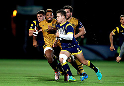 Jamie Shillcock of Worcester Warriors runs with the ball - Mandatory by-line: Robbie Stephenson/JMP - 04/11/2016 - RUGBY - Sixways Stadium - Worcester, England - Worcester Warriors v Bristol Rugby - Anglo Welsh Cup
