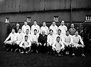 Rugby - Ireland vs. Australia . Ireland Team .24/02/1958 .