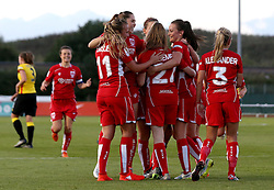Lauren Hemp of Bristol City Women celebrates with teammates after scoring a goal - Mandatory by-line: Robbie Stephenson/JMP - 10/09/2016 - FOOTBALL - Stoke Gifford Stadium - Bristol, England - Bristol City Women v Watford Ladies - FA Women's Super League 2