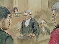 Oxford Crown Court, 14th May 1996, Sara Thornton Re-Trial.<br /> Martin Thornton tells the court how he heard his father scream as he was stabbed to death by Sara.