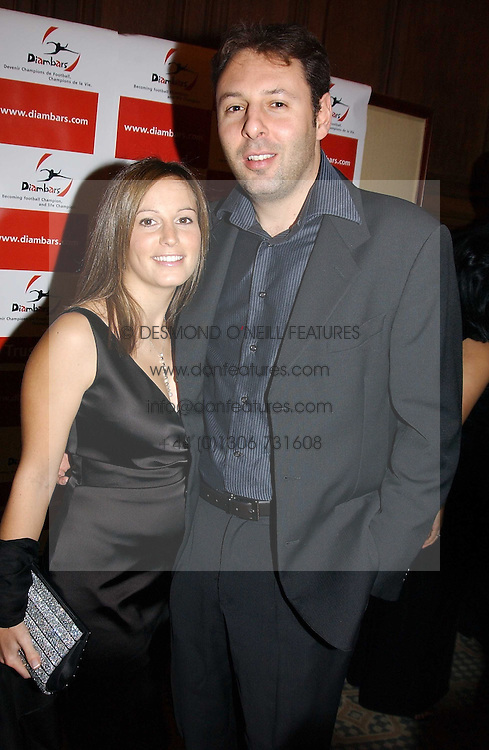 DARREN & SARA DEIN he is the son of the Vice Chairman of Arsenal FC at a dinner hosted by footballer Patrick Vieira and the Diambars UK Charital Trust at The Landmark Hotel, 222 Marylebone Road, London NW1 on 3rd February 2005.<br />