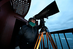 NORWAY ANDENES 8DEC15 - Whale spotting from the lighthouse on the coast at Andenes, Norway.<br /> <br /> jre/Photo by Jiri Rezac / Greenpeace<br /> <br /> © Jiri Rezac 2015