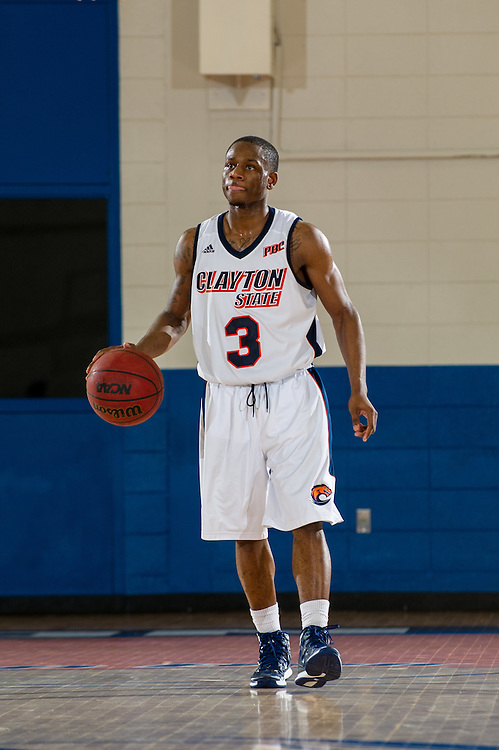 Jan. 8, 2014; Morrow, GA, USA; Clayton State player guard Sirdarius Henry during game against Young Harris at Clayton State. CSU lost 76-68. Photo by Kevin Liles / kevindliles.com