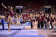 2014 March 15: University of Denver Women's Gymnastics Team at Magness Arena in Denver, CO <br /> Photo Evert Nelson / Clarkson Creative