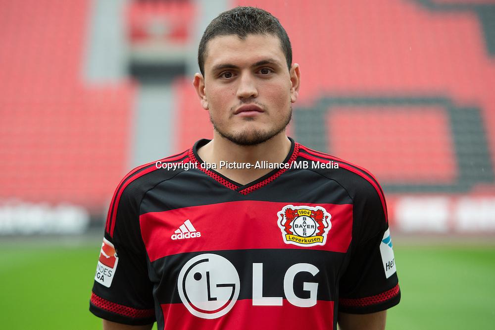 German Soccer Bundesliga 2015/16 - Photocall Bayer 04 Leverkusen on 13 July 2015 in Leverkusen, Germany: Kyriakos Papadopolus.