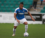 Dover midfielder Aswad Thomas during the FA Trophy match between Whitehawk FC and Dover Athletic at the Enclosed Ground, Whitehawk, United Kingdom on 12 December 2015. Photo by Bennett Dean.