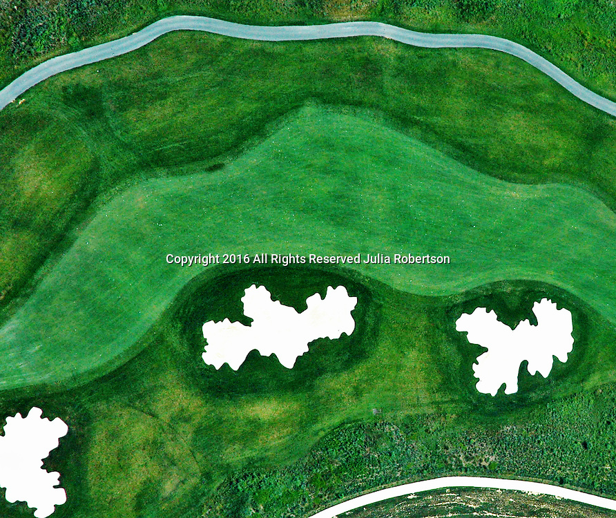 Aerial view of golf course abstract Aerial views of artistic patterns in the earth.