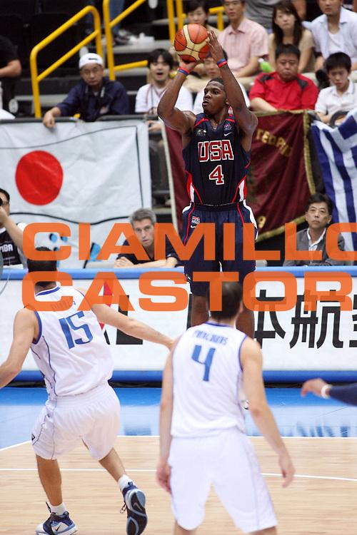 DESCRIZIONE : Saitama Giappone Japan Men World Championship 2006 Campionati Mondiali Semifinal Greece-Usa <br /> GIOCATORE : Johnson <br /> SQUADRA : Usa Stati Uniti America <br /> EVENTO : Saitama Giappone Japan Men World Championship 2006 Campionato Mondiale Semifinal Greece-Usa <br /> GARA : Greece Usa Grecia Stati Uniti America <br /> DATA : 01/09/2006 <br /> CATEGORIA : Tiro <br /> SPORT : Pallacanestro <br /> AUTORE : Agenzia Ciamillo-Castoria/E.Castoria <br /> Galleria : Japan World Championship 2006<br /> Fotonotizia : Saitama Giappone Japan Men World Championship 2006 Campionati Mondiali Semifinal Greece-Usa <br /> Predefinita :