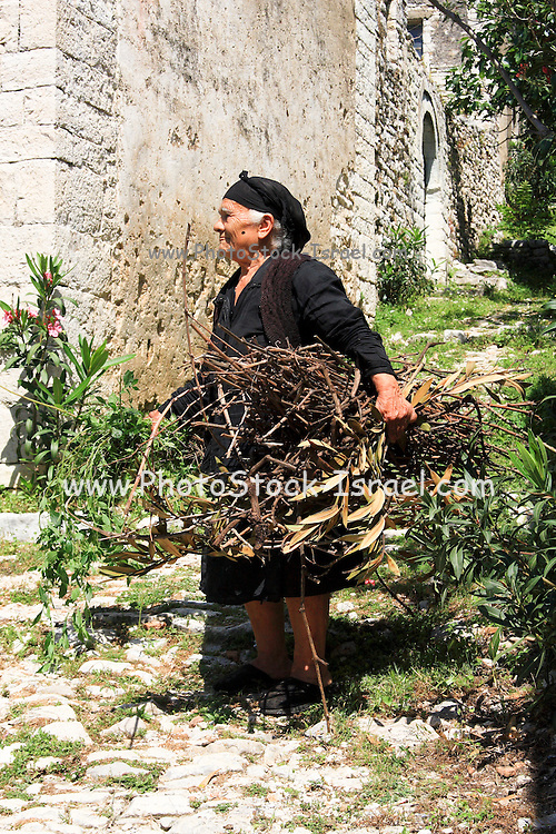 Albania, Keparo, Portrait of a mature Albanian woman