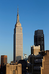Empire State Building shot from the Westside of New York City