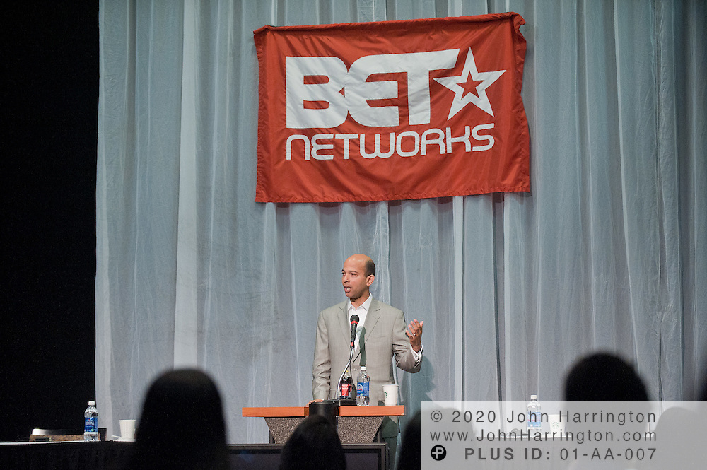 Scott Mills, President  and COO of BET, speaks to the 2011 T. Howard interns at the T. Howard intern orientation held at BET Studios in Washington, DC on June 2nd, 2011.