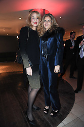 Left to right, JERRY HALL and SUZANNE WYMAN at the Costa Book Awards 2009 held at Quaglino's, 16 Bury Street, London SW1 on 26th January 2010.