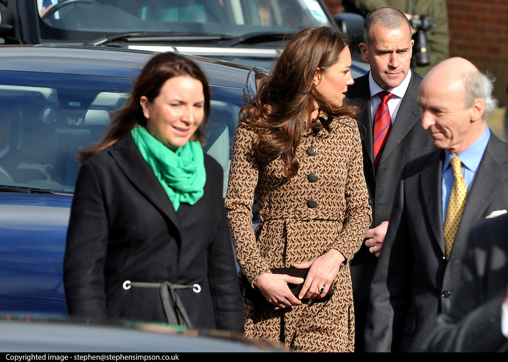 © Licensed to London News Pictures. 21/02/2012, Oxford, UK. The Duchess of Cambridge Kate Middleton leaves Rose Hill Primary School in Oxford today 21 February 2012. Photo credit : Stephen Simpson/LNP