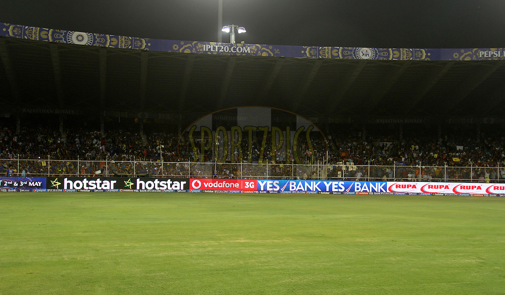 Branding during match 22 of the Pepsi IPL 2015 (Indian Premier League) between The Rajasthan Royals and The Royal Challengers Bangalore held at the Sardar Patel Stadium in Ahmedabad , India on the 24th April 2015.<br /> <br /> Photo by:  Vipin Pawar / SPORTZPICS / IPL