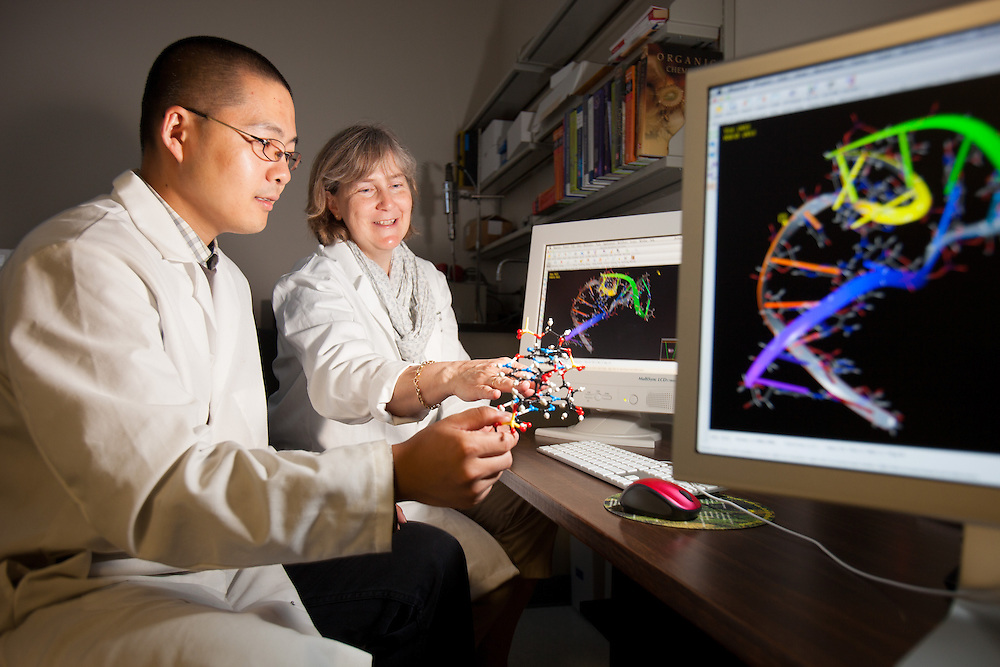 Professor Jennifer V.Hines, left, Biochemistry Research Facility Ohio University. © Ohio University / Photo by Jonathan Adams