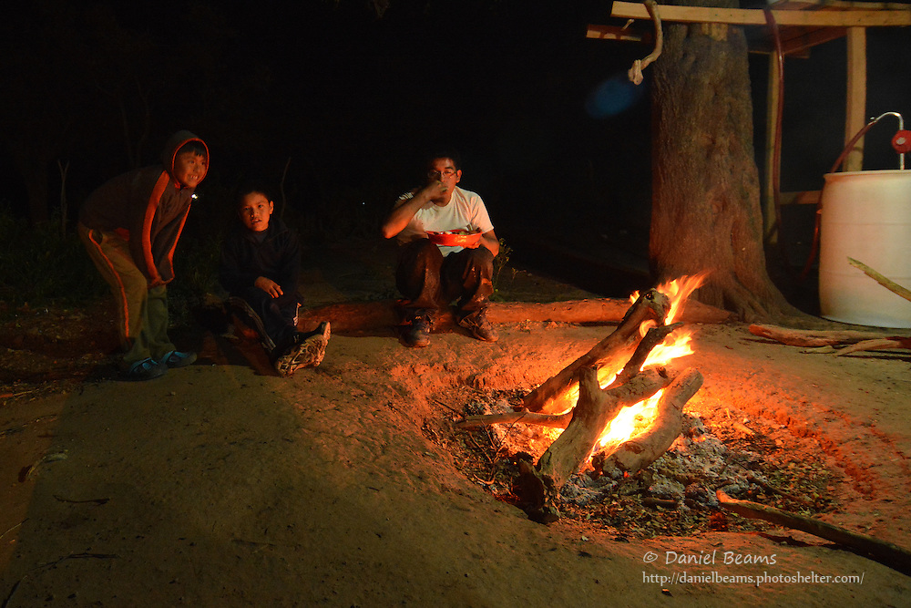 Camping in Yapiroa, a Guarani community in Isosog, Santa Cruz, Bolivia