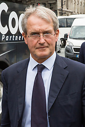 London, UK. 18 June, 2019. Owen Paterson, Conservative MP for North Shropshire, arrives at Parliament.